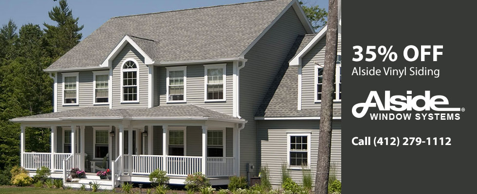 35% off Vinyl Siding from Alside. Call (412) 279-1112.