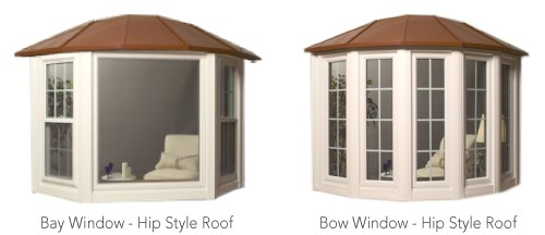 Endure bay & bow window roof styles